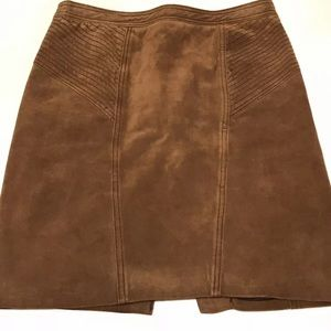PROENZA SCHOULER Brown Leather Skirt Size 2